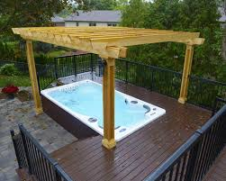 a deck with gazebo small pools backyards pacific paradise ideas