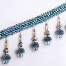 Lace Trim Curtains Shop Xwl 12m Lot Beaded Fringe Lace Trim For Curtains Diy