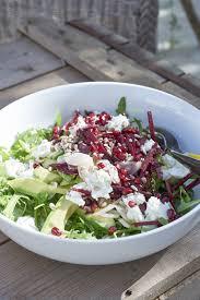 comment cuisiner la betterave crue salade de roquette chèvre frais avocat betterave recette légère