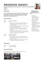 technical support resume samples visualcv resume samples database