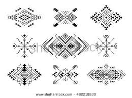 colorful aztec style ornamental simple geometric stock vector
