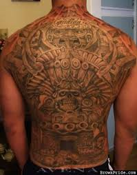 mexican aztec back piece tattoo design photos pictures and