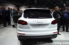porsche cayenne 2014 2015 porsche cayenne s e hybrid rear at the paris motor show 2014