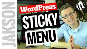 Sticky Top Bar Wordpress Sticky Menu How To Add An On Scroll Sticky Navigation