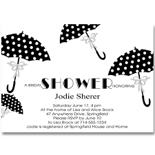 shower invitations cheap polka dot umbrella bridal shower invitations ewbs041 as low