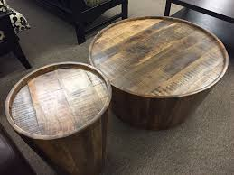 coffee and end tables for sale round wood drum coffee table tables for sale w thippo