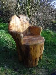 tree trunk garden seats tree trunk chair tree trunk pinterest