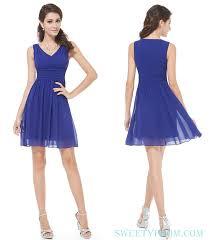 v neck full back short cheap prom dresses royal blue short prom