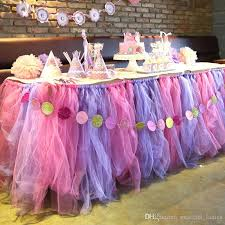 tulle decorations ful tulle table sash for wedding table garden wedding table