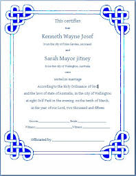 ms word formal marriage certificate template formal word templates