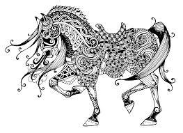 Cheval majestueux  Chevaux  Coloriages difficiles pour adultes