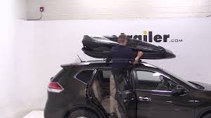 silver nissan rogue 2014 review of the thule hyper xl rooftop cargo box on a 2014 nissan