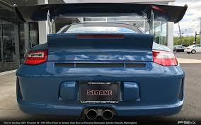 porsche trunk in market paint to sample oslo blue 2011 porsche 911 gt3 rs u2013 p9xx