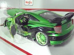 toyota celica custom toyota celica gt s green 1 24 custom diecast car model by maisto