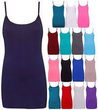 women u0027s plus size stretch vest top strappy cami tops u0026 shirts ebay