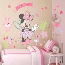 chambre enfant minnie sticker décoration murale salon chambre enfants minnie fleurs roses