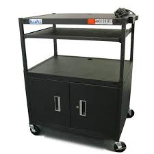 av media cart w security cabinet super size height at