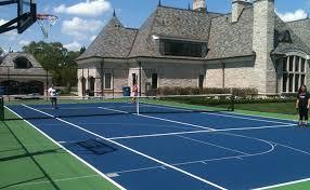 Backyard Tennis Court Cost Backyard Backyard Tennis Court Inspiring Garden And Landscape