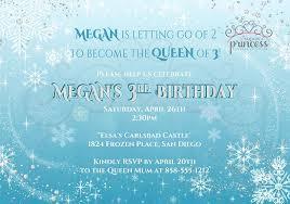 frozen inspired printable birthday invitation original design