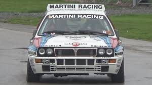 martini racing ferrari loud lancia delta hf integrale gr a rally car demonstration hd