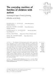 praxis 543 study guide the everyday routines of families of children with autism