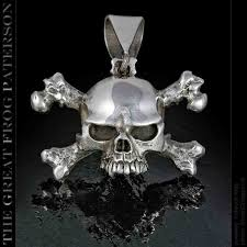 silver skull pendant necklace images Slash skull and crossbones pendant great frog paterson jpg