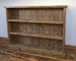 Timber Bookcases Reclaimed Scaffold Plank Waxed Bookcase