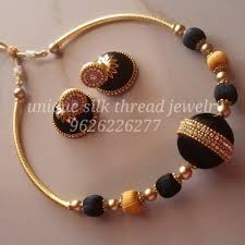 black thread bracelet images Black colour silk thread jewelry at rs 650 piece parvathi nagar jpeg
