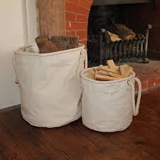 natural canvas log and or kindling basket by the original canvas