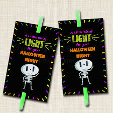 halloween glow stick favor tags glow stick labels printable