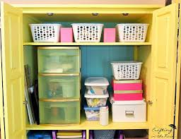 Craft Storage Cabinet Entertainment Center Turned Craft Storage From Crafting In The