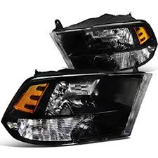 2011 dodge ram 1500 headlight bulb amazon com spec d tuning 2lh ram09jm dp dodge ram 1500 2500 3500