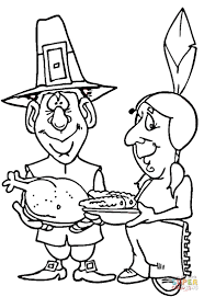 thanksgiving puzzle games pilgrim and indian coloring page free printable coloring pages