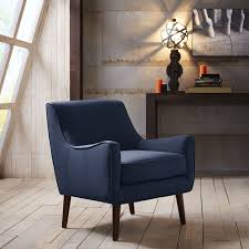 Blue Accent Chairs For Living Room Armchair Navy Armchair Patterned Accent Chairs Blue Chair Velvet