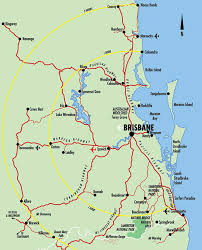 map of queensland map of brisbane south east queensland brisbane australia