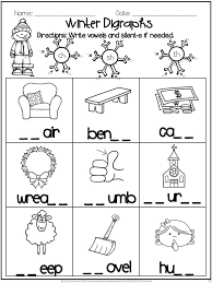 winter math and word fun digraphs addition subtraction blends