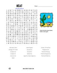 heat word search 1st 3rd grade worksheet lesson planet