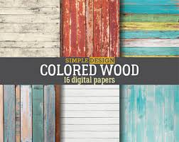 colorful wood etsy