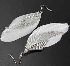 angel wing earrings feather angel wing earrings happytrunkapparel