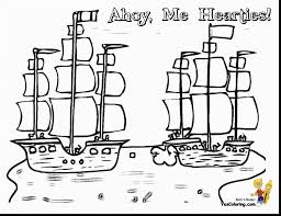 marvelous pirate ship coloring pages printable with pirate ship