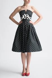 archive black and white cocktail dress