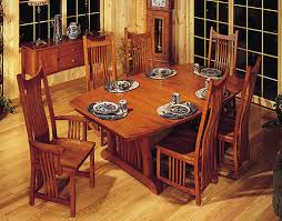Mission Style Dining Room Furniture By Schrocks Of Walnut Creek - Mission dining room table