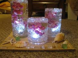 Water Bead Centerpieces by Vase With Gel And Flameless Candle Google Search Wedding Decor