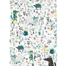 christmas character wrapping paper five sheets by paper u0026 cloth