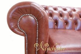 Chestnut Leather Sofa Chesterfield 3 Seater Settee Old English Chestnut Leather Sofa