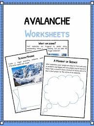 avalanche facts worksheets u0026 key information for kids pdf resource