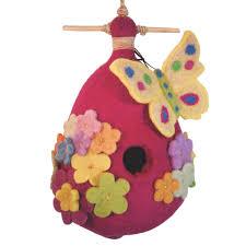 felt birdhouse butterfly handmade and fair trade u2013 global