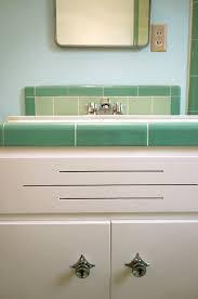 laura039s green bw tile bathroom remodel in progress retro