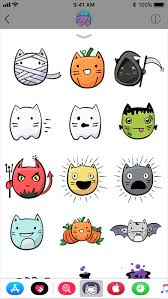 Halloween Stickers Cute Cat Halloween Stickers On The App Store