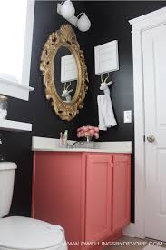 dwellings by devore black bathroom tour bathroom decor